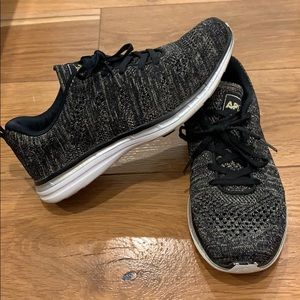 APL black/gold metallic sneakers. Great condition!